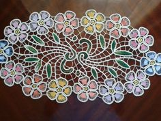 Colorful Romanian Point Lace