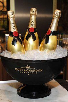 MOET & CHANDON Gold Bottles