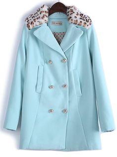 Leopard Collar Coat