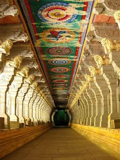 Corridor Of Ramnathswamy Temple, The Largest In The World In Rameshwaram, India-105 Stunning Photography Of Unique Places To Visit Before You Die (part 4)