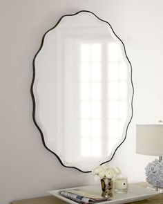 """Pea's bedroom >> """"Teadora"""" Mirror at Horchow."""