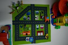How to.... do something: How to make a City Play Mat for toy cars