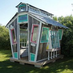 A whimsical garden shed