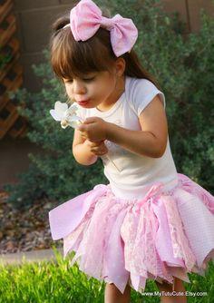 Fabric Scraps Tutu Skirt Pretty in Pink MADE TO by mytutucute, $24.99   Scrap Tutu Scrappy Skirt