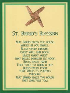 #Celtic Saint Brigid Cross Irish House Blessing Holy Post Card Set of 8