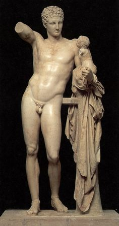 Hermes by Praxiteles - Archaeological Museum of Olympia
