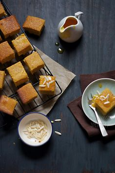 Almond, Orange Cake with Spiked Orange Sauce