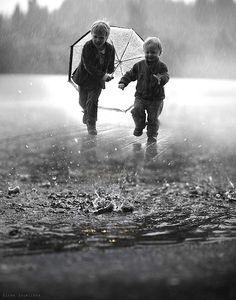 through the rain...