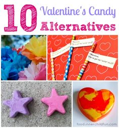 10 Alternatives to Valentine's Candy -- lots of homemade (and non-food) ideas here. Great for classroom treats! :-)