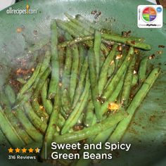 Sweet and Spicy Green Beans from Allrecipes.com #myplate #veggies