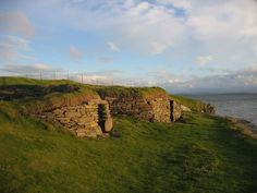 Knap of Howar, Scotland. Originally part of a farmstead, this is the oldest stone house in Europe, standing since 5500 years ago.