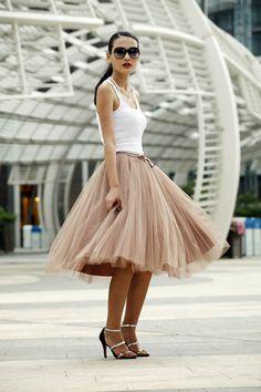 Inspiración: faldas de tul