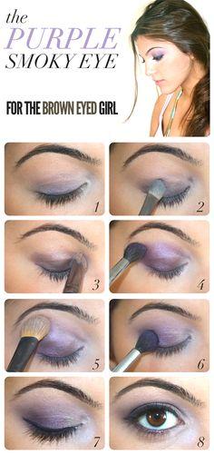 Kouturekiss - Purple Smokey Eye For Brown Eyes - I don't have brown eyes, but I've always loved purple