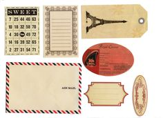 I love the airmail envelope