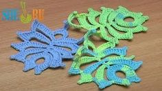 Lots of crochet leaves