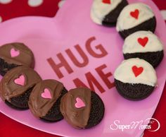 Chocolate Lovers Cookies - These cute Valentine's Day cookies are easy to whip up and would make a sweet gift.  Tags: valentines day treats | easy valentines day dessert | easy cookies | easy cookie recipe | easy valentines day gift | SuperMoms360.com