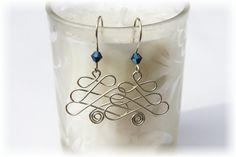 Christmas Jewelry / Christmas Tree Earrings / Wire Wrapped Christmas Tree / Christmas Crystal Earrings. $12.00, via Etsy.