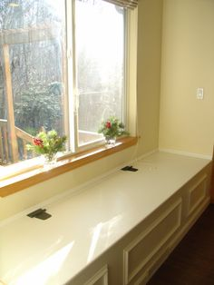 diy window seat for the patio cushions