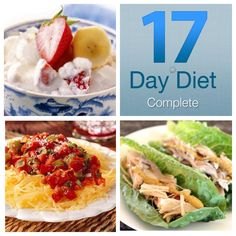 Get personal support and recipes on the 17 Day Diet Complete App #17daydiet