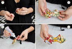 Bow tie DIY craft, beauti stuff, bow ties, sew idea, fabric bows, diy project, diy bow, make a bow, pleat bow
