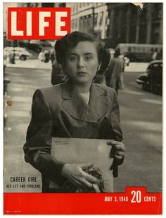 Miss Gwyned Filling, of St. Charles, MO, in NYC on the cover of Life Magazine, 1948. #vintage #1940s #magazines