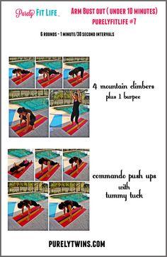 10 minute upper body workout #purelyfitlife 7 via @purelytwins