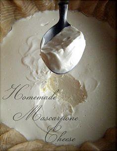 Easycooking: Homemade Mascarpone Cheese
