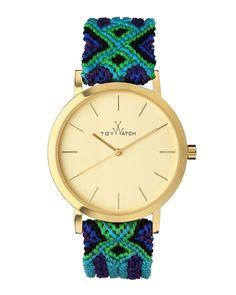 Maya Yellow Golden Watch with Crochet Band