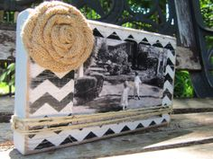 Distressed, vintage, shabby wood picture frame, bridesmaids gifts under 20 dollars on Etsy, $15.00