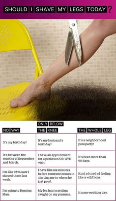How to know when to shave your legs // funny pictures - funny photos - funny images - funny pics - funny quotes - #lol #humor #funnypictures