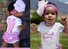 Christian Clothing; Onesie; One Piece, (Little Blessing) Ruffled Onesie