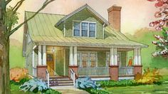Aberdeen Cottage - Cottage Living | Southern Living House Plans 2500sf
