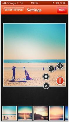 Printic: awesome app that prints retro-looking, polaroid style prints right from your phone. Perfect for vacation photos!