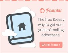 Have you heard of Postable? If you are a fan of convenience, check out how easy snail mail can be... https://www.postable.com/partner/wedchicks062714?utm_source=wedding%20chicksutm_medium=square%20adutm_campaign=wedding%20chicks%20square%20banner%20062714