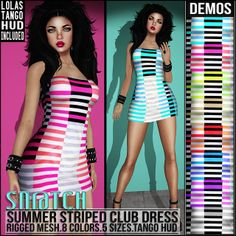 Sn@tch Summer Striped Club Dress Vendor Ad LG | Flickr - Photo Sharing!