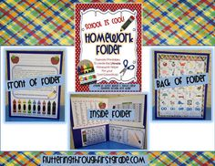 Homework Folder. Everything you need to set students and parents up for success! 10 different themes...