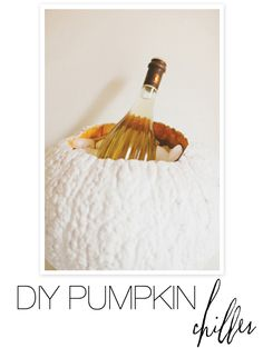Do it yourself Pumpkin Chiller. Perfect for all those upcoming Halloween parties. Instructions here: http://www.stylemepretty.com/2012/10/21/smp-at-home-halloween-dinner-party-diy-projects/#