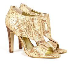 Animal Print Peep Toe High Heels #shoes #women #ladies #snake #skin #animal #print #heels #fashion