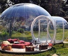 bubbl tent, backyard camping, hous, blowing bubbles