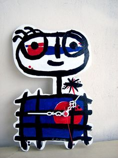 asial etsy, kids' wall art clock