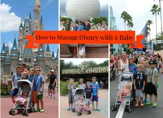 How to Manage Disney with a Baby. Tips and Advice and perks that the Parks themselves have on hand. It's very doable to do without being too crazy. http://www.momgenerations.com/2014/07/how-to-manage-disney-with-a-baby-disney/ #Disney #Travel