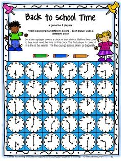 BACK TO SCHOOL - MATH GAMES SECOND GRADE - by Games 4 Learning - This collection of back to school math games contains 14 printable games that review a variety of first grade skills.$