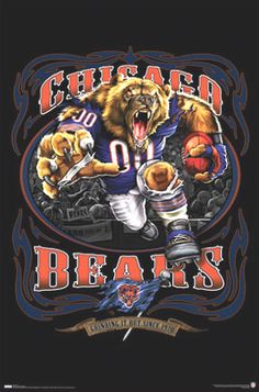 chicago bears | Chicago Bears Football Team Mascot Framed Poster Sports Posters ...