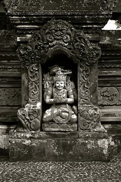 Shiva at Gunung Lebah Temple, Tjampuhan. This site is the very first Hindu temple in Bali built in 11th century