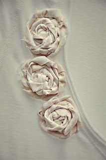 Rolled Roses... Shabby Chic!