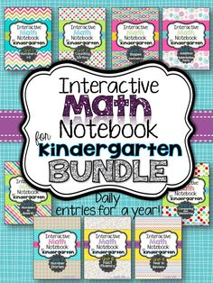 My daily Interactive Math Notebook for Kindergarten! Daily entries for a year. #TpT