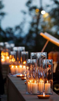 outdoor candles...