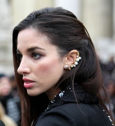 Pearls Cuff #earring Street Style atSpring Summer 2014#Paris#Fashion Haute #Couture
