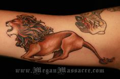 running #lion #tattoo