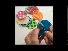 ▶ Blumen aus Stoffresten farbenmix - YouTube